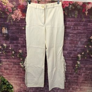 St. John Sport Fringed High Waist Stretchy Pants 4